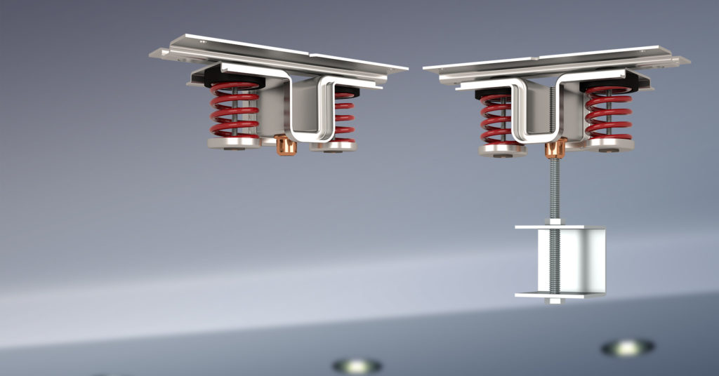 Kinetics Noise Control spring ceiling isolation hangers